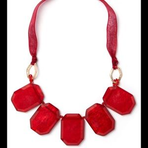 🆕Charming Charle Red Statement Necklace